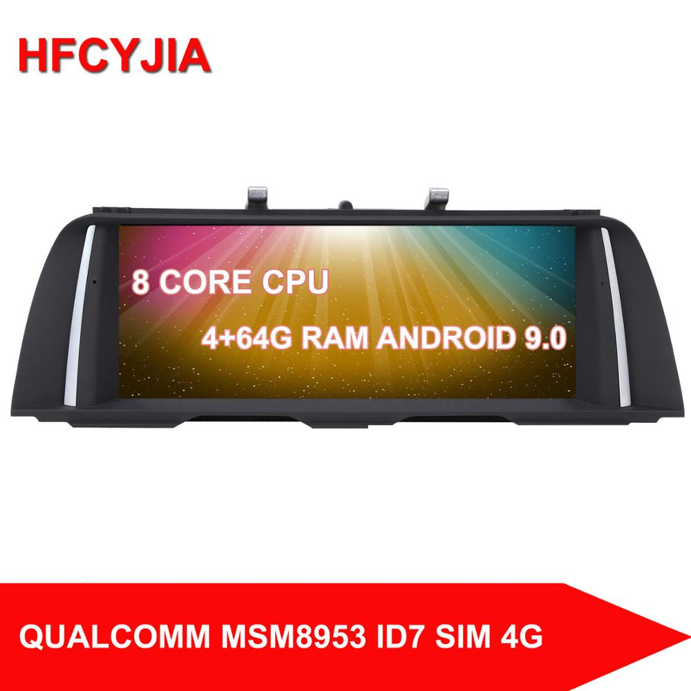 HFCYJIA 8 Core <font><b>Android</b></font> 10 System Car Screen Receiver For <font><b>BMW</b></font> <font><b>F10</b></font> F11 2011-2017 GPS Navi Stereo 4+64G RAM WIFI 4G SIM BT PIP IPS image