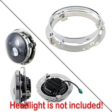 7″ Inch LED Headlamp Mounting Ring Bracket Adapter Fits 94-13 Street Glide Road King Electra Heritage Softail 94-16 Dyna