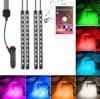 4Pcs 12V Car RGB LED DRL Strip Light 5050SMD Car Auto With Mobile APP Control Decorative