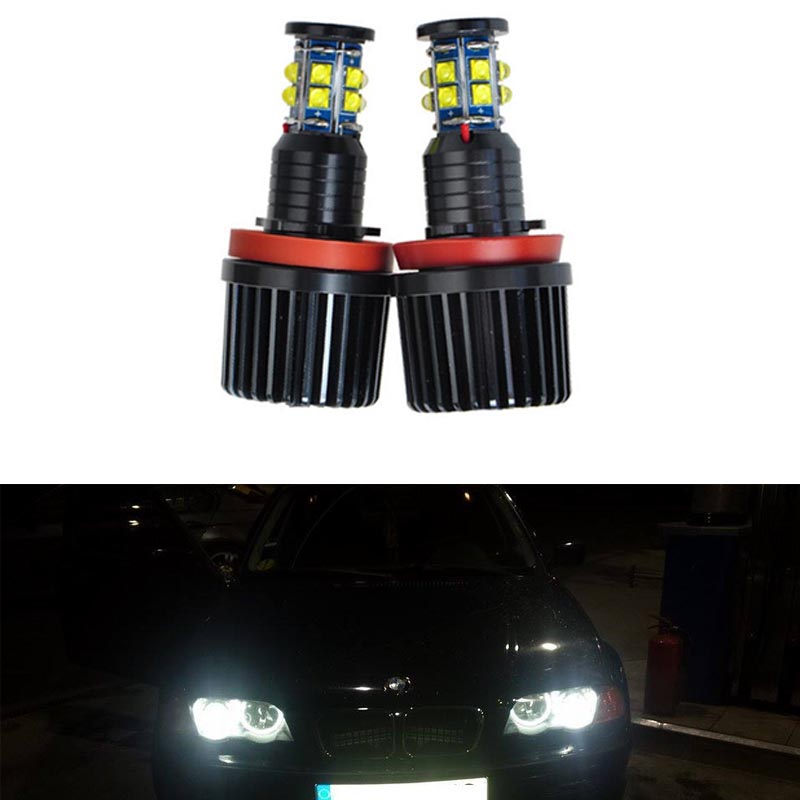 ФОТО Super Bright LED car headlight styling For BMW E87 E82 E90 E92 M3 E93 E70 X5 X6 Z4 E89 H8 Angel Eyes Auto accessory No Error