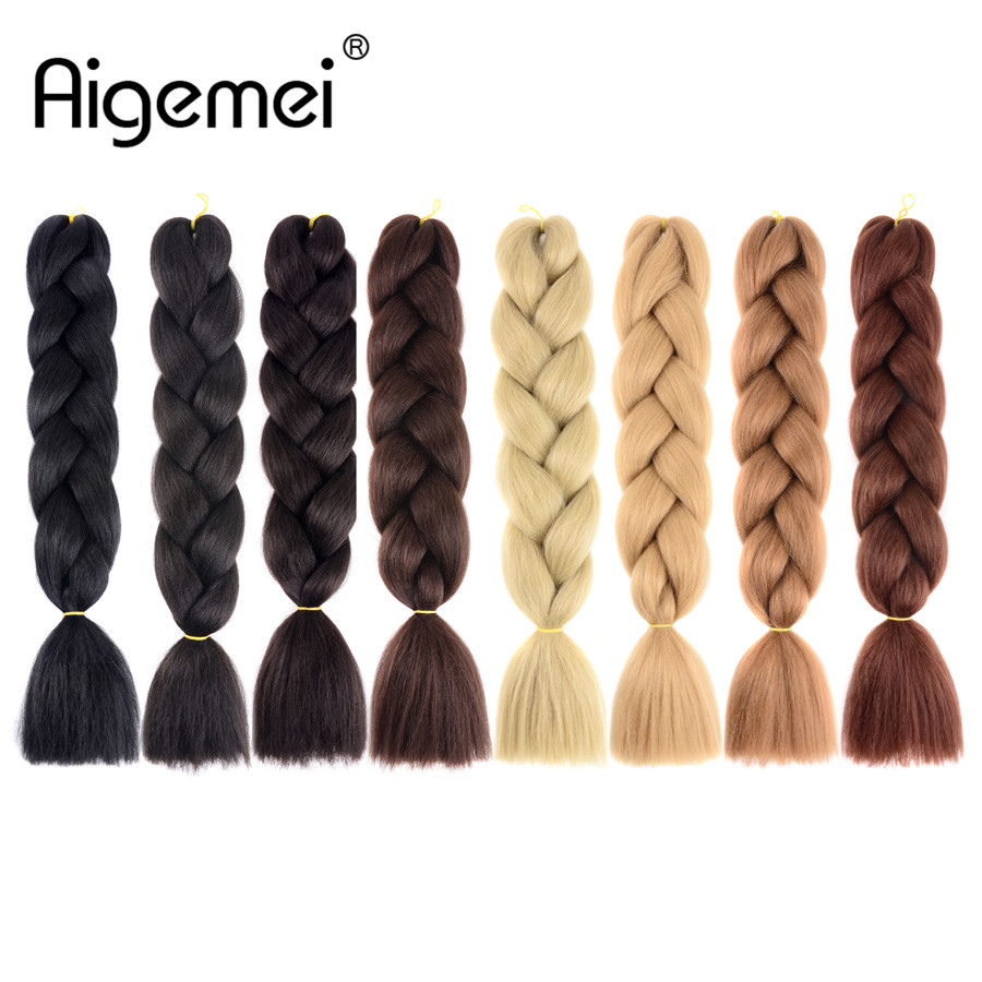Aigemei Jumbo Πλεξούδες Πλεξούδα Πλεκτά - Συνθετικά μαλλιά - Φωτογραφία 2