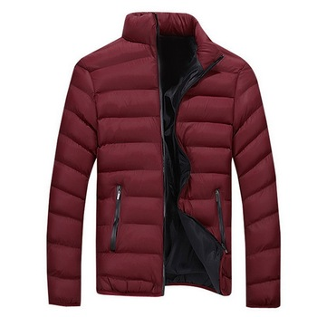LASPERAL Winter Men'S Solid Color Down Cotton Casual Stand Collar Zipper Jacket Plus Size M-4XL Clothes Thick Male Outerwear фото