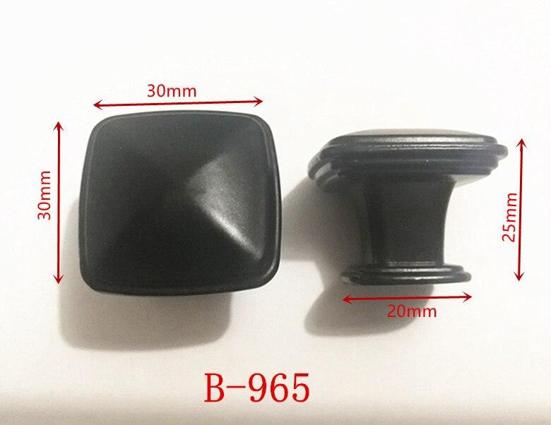 Ручки для шкафа из цинкового сплава черного цвета в американском стиле, дверные ручки для кухонного шкафа, ручки для выдвижных ящиков, модные мебельные ручки, фурнитура - Цвет: 965
