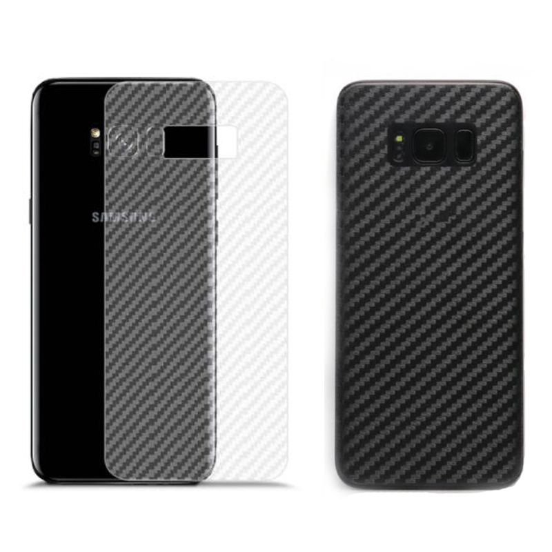 Carbon Fiber Film Sticker for Samsung Galaxy S6 S7 edge S8 S9 S10 Plus S10E Note 8 Screen Protector Back Glass Panel Full Cover