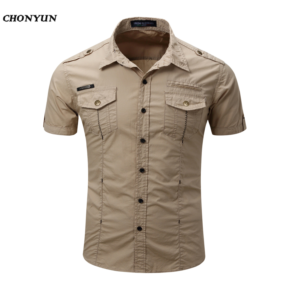 Business Men'S Slim Fit short Sleeves Casual Shirt 1