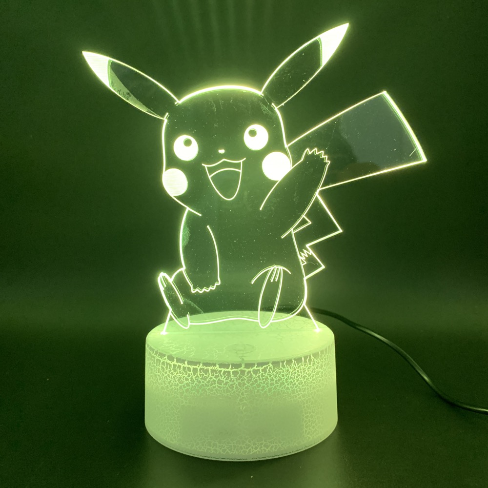 3d Led Night Light Lamp Game Pokemon Go Color Changing Home Decoration Luminaria Birthday Gift For Child Kid Nightlight Pikachu