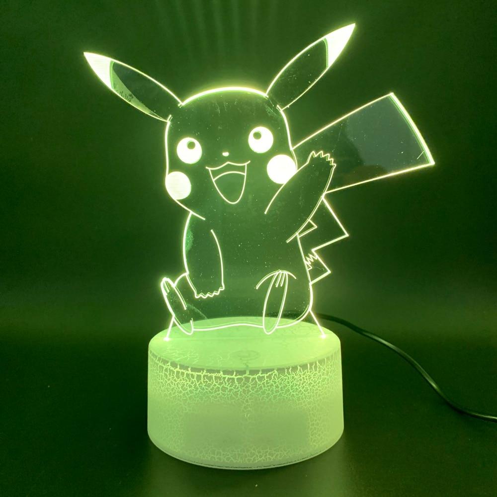 3d Led Night Light Lamp Game Pokemon Go Color Changing Home Decoration Luminaria Birthday Gift For Child Kid Nightlight Pikachu