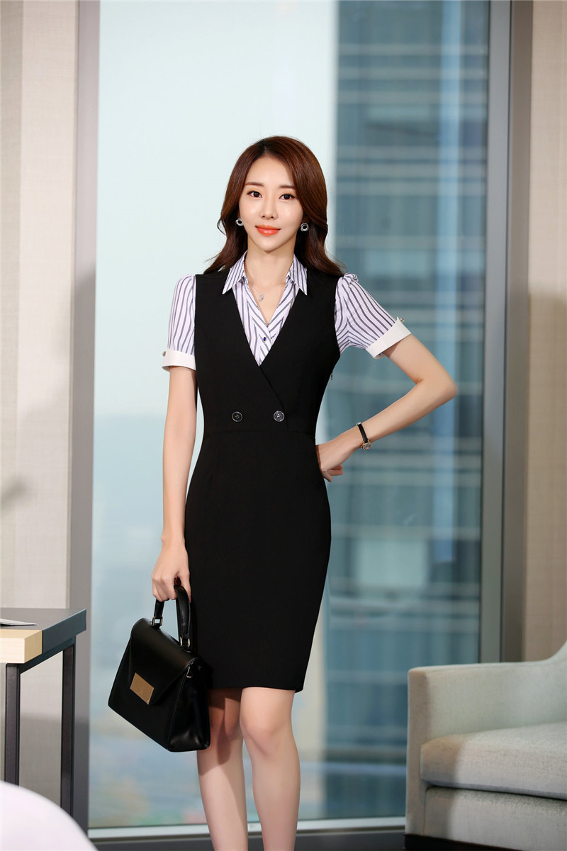 18a9ba10171 Formal OL Styles Slim Hips Women Summer Dress Professional Business Work  Wear Dresses Ladies Vestidos Tops Clothes Plus Size 3XL
