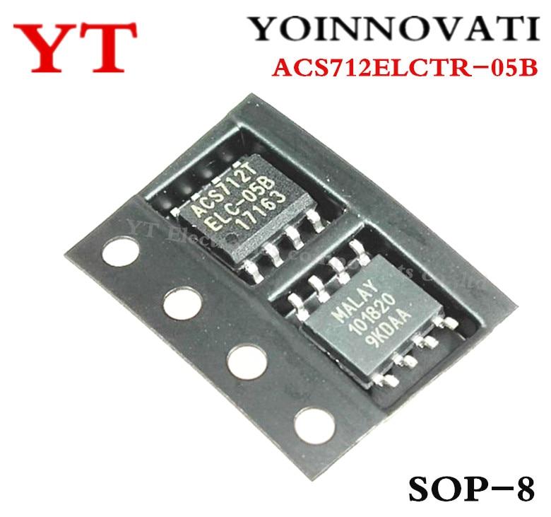 5 PCS ACS712ELCTR-05B-T SOP-8 ACS712T ELC-05B Linear Current Sensor