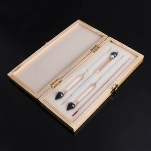 NEW 3 Pcs 0-100% Hydrometer Alcoholmeter Tester Set Alcohol Concentration Meter + Thermometer