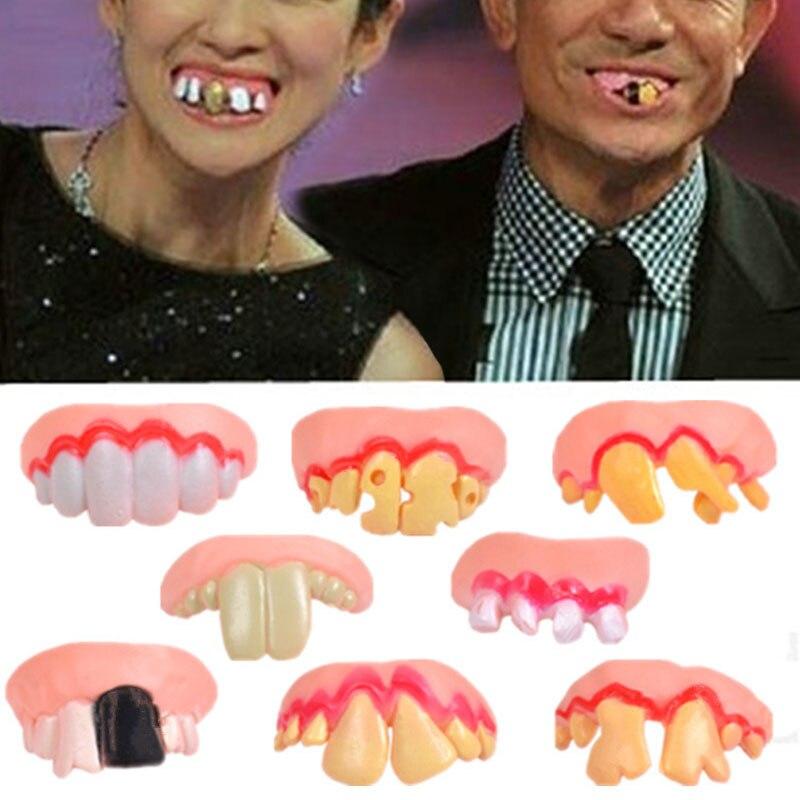 Funny Gags Jokes Prank Freak False Teeth Halloween April Fools Day Wacky Toys FP8