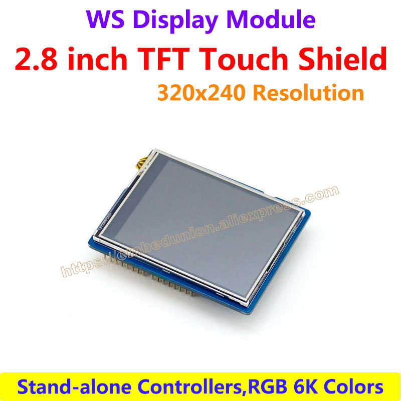 2.8inch TFT Touch Shield LCD Display Screen Demo board 320*240 SPI Interface Support For UNO,Leonardo, UNO PLUS, NUCLEO, XNUCLEO stm32f103rbt6development board learning board assessment board spi interface 2 4 tft color screen routines