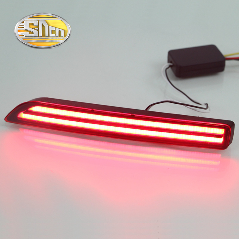 SNCN Multi-functions Car LED Rear Fog Lamp Brake Light Turn Signal Light Auto Bulb Decoration Lamp For Nissan Murano 2016 2017