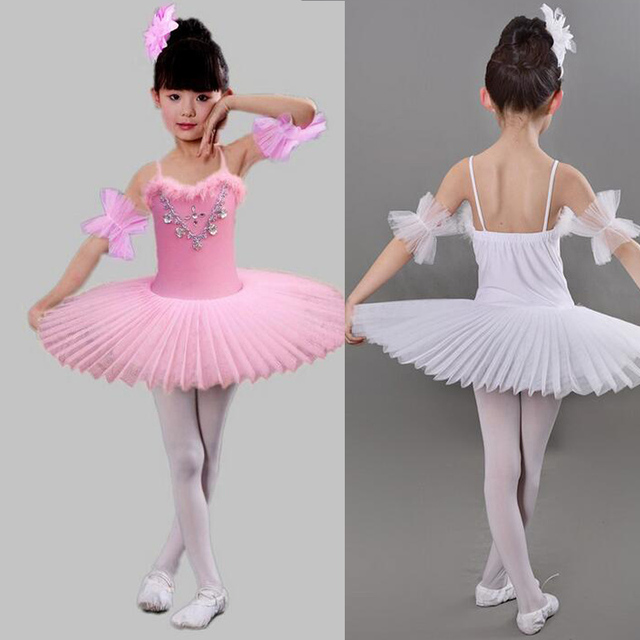 d0c1f8d62 Girls Professional White Swan Lake Ballet Costumes Multicolor Lace ...