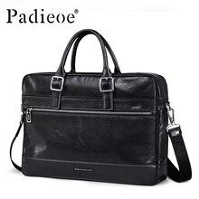 Padieoe Deluxe Vintage Design Echtes Leder Handtasche geschäftsmann Aktentasche Umhängetasche Hohe Qualität Langlebig Umhängetasche