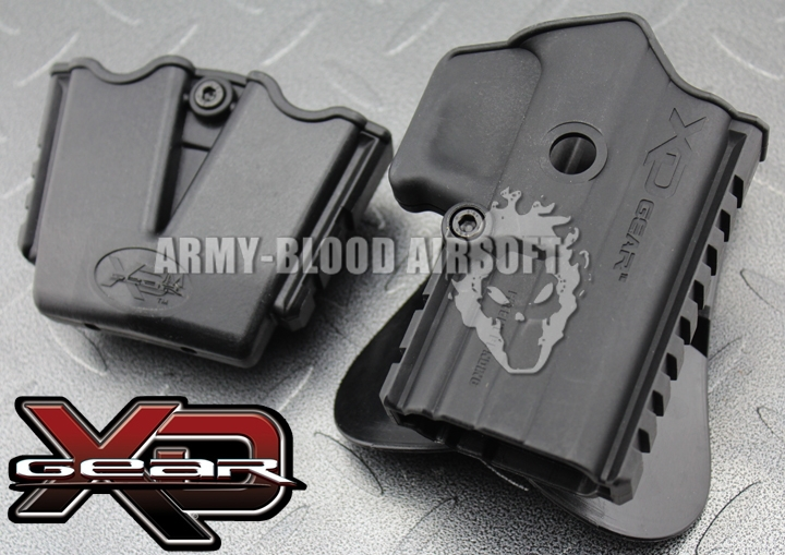XD Gear XD3500H Polymer Paddle Holster Tactical Holster W Magazine Pouch Dual Magazine Pouch BK Free