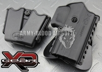 XD Gear XD3500H Polymer Paddle Holster Tactical Holster W / Magazine Pouch Dual Magazine Pouch (BK DE)