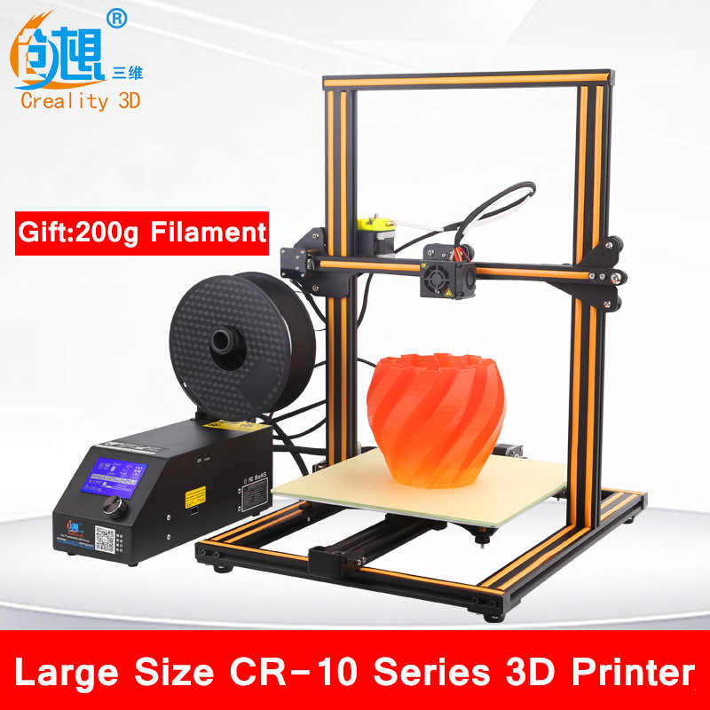 High Precision CR-10S 4S/CR-10 Mini 3D PrinterFully Assembled 3D Printer Large Printing Area 3D Printer With 200g Filament 2018 new diy tt 1s mini 3d printer 220v 110v universal made from cn fully assembled supplied with 0 3kg filament in random color