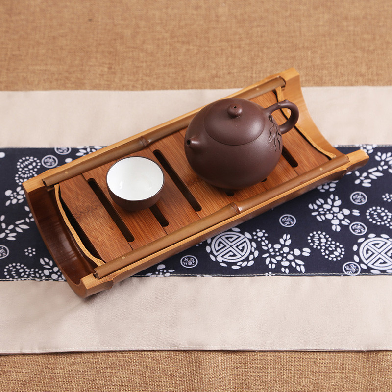 27*12*5cm bamboo chinese kung fu tea tray Stored water gongfu tea dish tea set service saucer vintage Tea ceremony