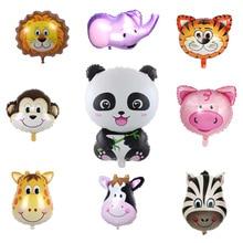 Jungle Animal Giraffe Tiger Lion Zebra MonkeyCow Air Helium Balloons Kids Safari Birthday Party Decor Zoo Theme Supplie