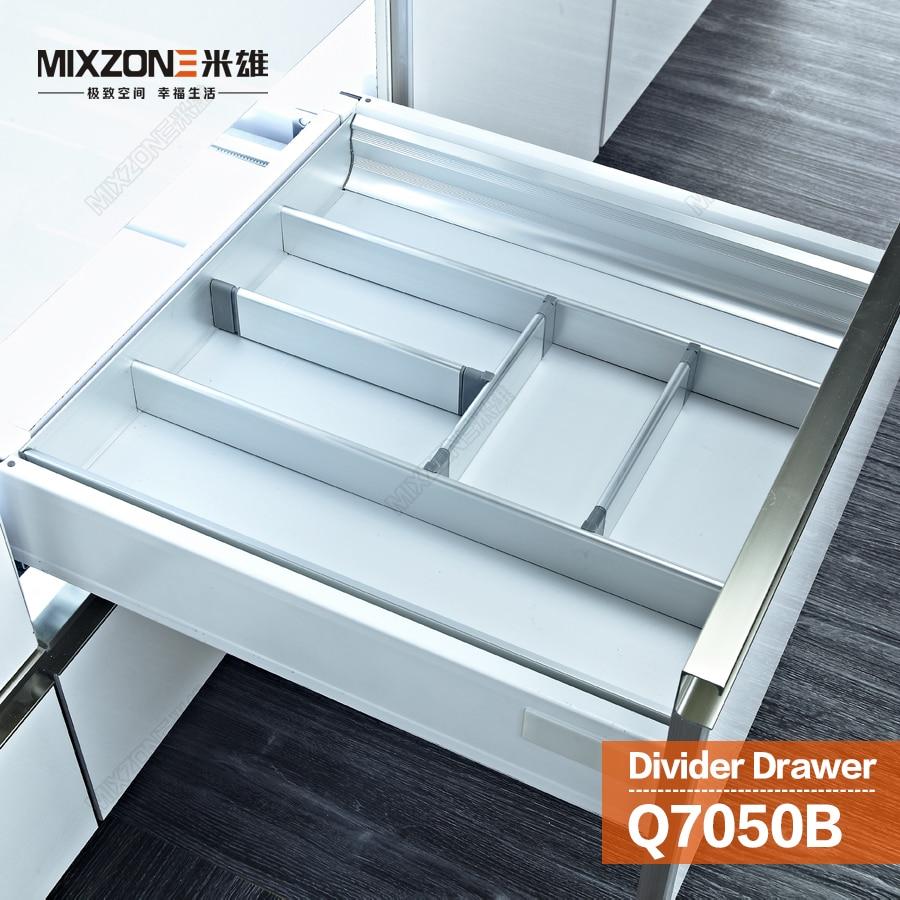 Kitchen Cabinet Aluminum Alloy Utensil Divider Basket Drawer ...