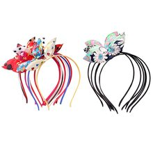 Random Color 1 pc Rabbit Ears Headband for Women Hair Princess Kid Hairband Ears Cat Hair Girls Hair Accessories(China)