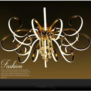 Image 2 - ポストモダンシンプルなledシャンデリアリビングルーム照明大気クリエイティブ人格クリスタルアートホールマスター寝室ライト