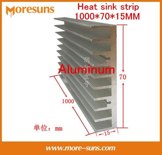 Fast Free Ship 2PCS/LOT Aluminum heat sink long heat sink strip 500*70*15MM radiating bars,0.5M Heatsink Cooler for LED jeyi seashark 2 two heat sink heatsink nvme ngff m 2 u 2 dust cover aluminum sheet thermal conductivity silicon wafer cooling ag