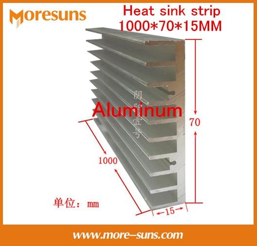 Rapide Bateau Libre 2 PCS/LOT Aluminium dissipateur de chaleur longue dissipateur de chaleur bande 500*70*15 MM rayonnant bars, 0.5 M Radiateur Refroidisseur pour LED
