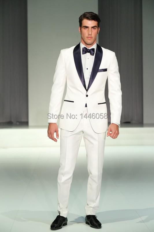Popular White Tuxedo Jacket Black Lapel-Buy Cheap White Tuxedo ...