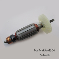 AC 220V 5 Teeth Drive Shaft Electric Curve machine Armature Rotor for Makita 4304,Boutique curve saw tools accessories