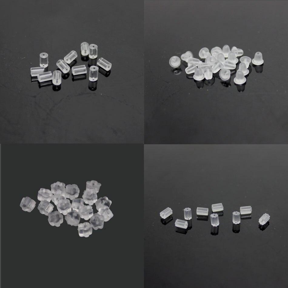 Rubber Silicone Barrel Bullet Flower Plastic Earring Backs Stoppers Earnuts  Stud Earring Plugs Diy Jewelry Findings