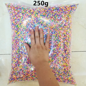 250g/bag DIY Snow Mud Particles Accessories Slime Balls Small Tiny Foam Beads For Floam Filler For DIY Supplies 2-4mm 500g 7 9mm soft fluffy snow mud slime balls small tiny foam beads for floam filler slime tools for slime carft accessories