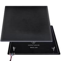 3D Printer Platform Heated Build Surface Glass Plate 310x310x4mm Heatbed Platform Compatible for 3D Printer MK2 MK3
