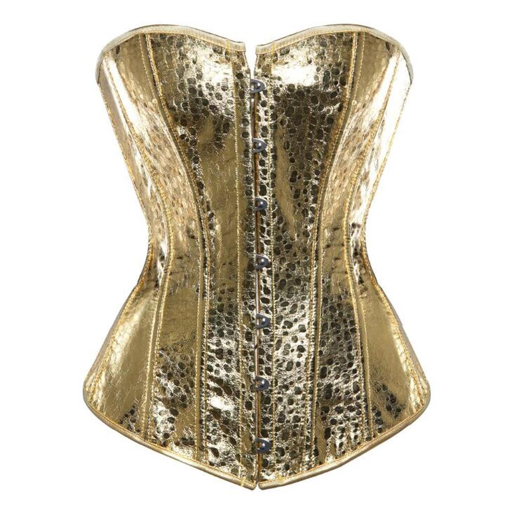 Women Gothic   Bustiers   Vintage Steampunk Waist   Corset   Top Plus Size Gold Silver Showgirl Clubwear Burlesque Costume Boned Tops
