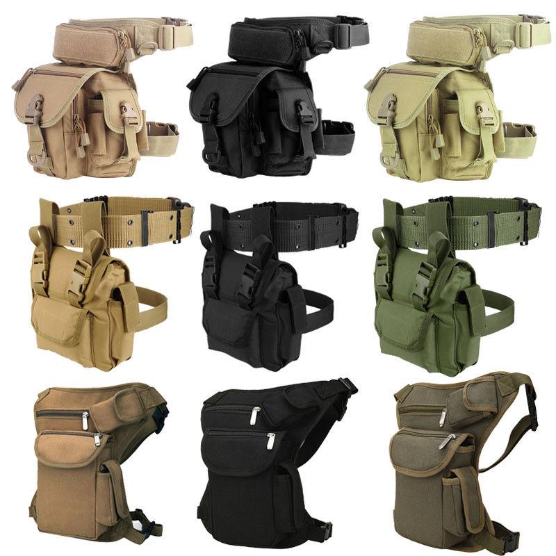 Waterproof Molle Tactical Leg Bag Men 1000D Nylon Military Waist Pack Leg Fanny Pack Travel Belt Bag For Outdoor Hunting Camping
