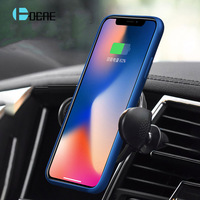 DCAE QI Wireless Car Charger For IPhone X 8 Fast Charging Car Wireless Charger For Samsung