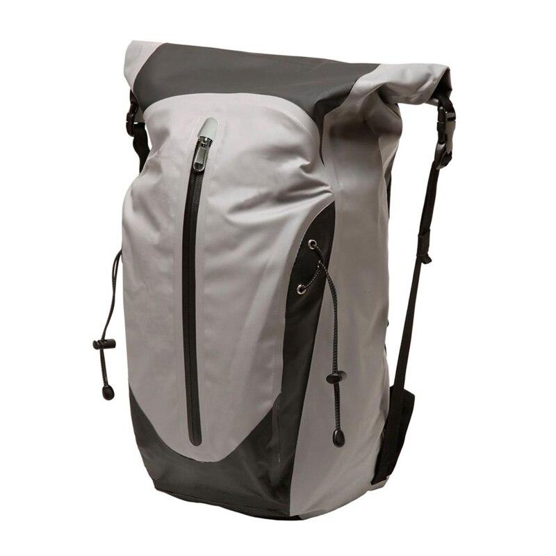 Sac à dos de sac sec de dessus de rouleau imperméable de 30L avec la pochette d'ordinateur rembourrée sacs de stockage sac de tirette pour le Camping de randonnée Cyling Sports nautiques
