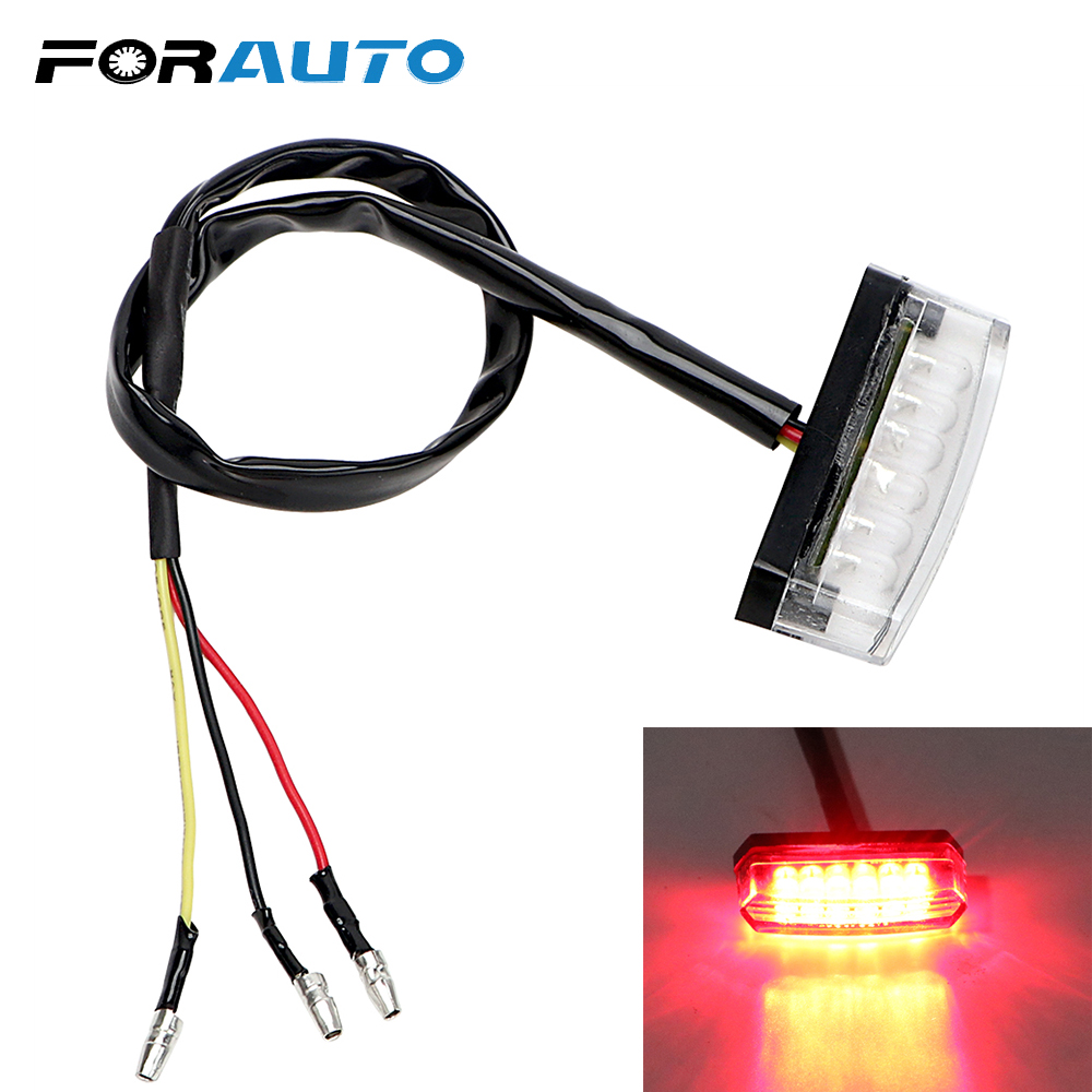 FORAUTO Moto Tail Brake Stop Light Rear Lights Indicator Lamp Motorcycle Lighting Motorbike Accessories