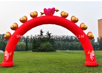 8 м надувные восемь сердца любовь Арки арки для рекламы Свадебная вечеринка фестивалей Аксессуары с воздуха Воздуходувы