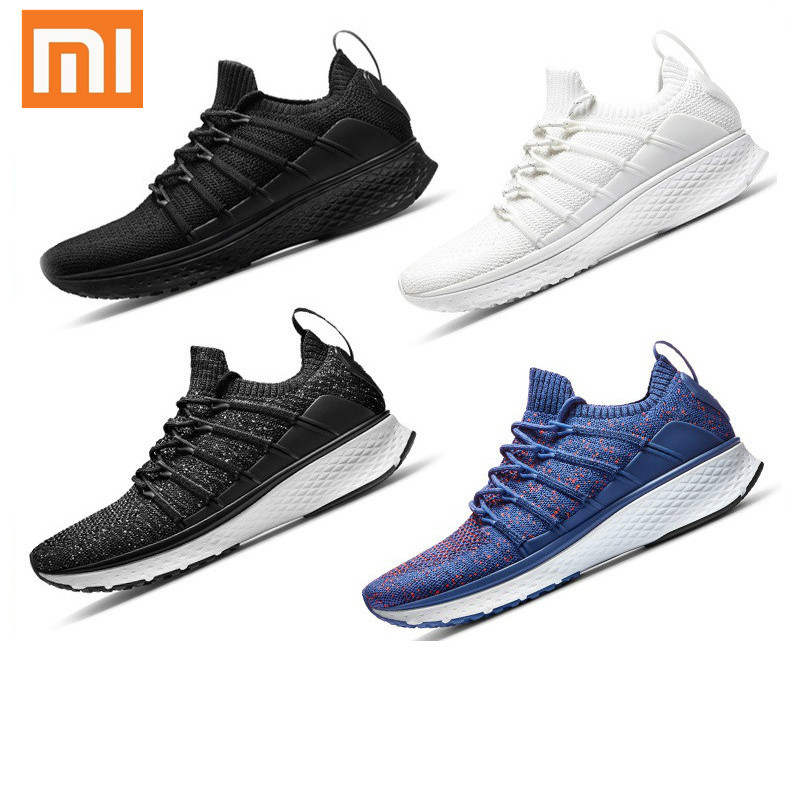 Xiaomi Mijia Shoes Sneaker 2 Sports Running Walking Breathable Shoes Uni-Mould Techinique Elastic Knitting Vamp No Smart Chip
