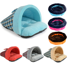 Зимнего теплого сна питомца собаки кровати домик для кошек из матрас Одеяло спать в питомнике мат ткань заполнения высокая эластичность PP Хлопок Коврик для собак
