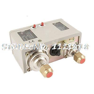 24A 16A 95-125PSI Manual Dual Pressure Switch Control Valve for Air Compressor 380v 16a 50 100psi 1 port air compressor automatic pressure switch control valve