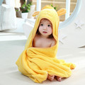 Infant Baby Bath Towel Four Season Newborn Plain Blankets Hooded Towels For Children Kids Fashion Soft Cartoon Cotton Towel