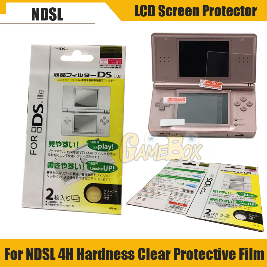 High Quality  LCD Screen Protector For Nintend DS Lite Console Nintend DS Protect Screen Film Color Transparent
