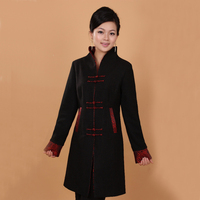 Free Shipping New Spring Women S Black Long Overcoat Cashmere Jacket Coat Outwear S M L