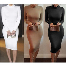Sexy Turtleneck Bodycon Dress