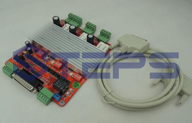 CNC 3 Axis TB6560 Stepper Motor Driver Controller Board 3A TB6560 For Mach3 free shipping high quality 4 axis tb6560 cnc stepper motor driver controller board 12 36v 1 5 3a mach3 cnc 12