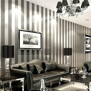 Image 2 - Verticaal Gestreept Behang Home Decor Voor Woonkamer Slaapkamer Wandbekleding Metallic Zwart Zilver Moderne Luxe Muur Papier
