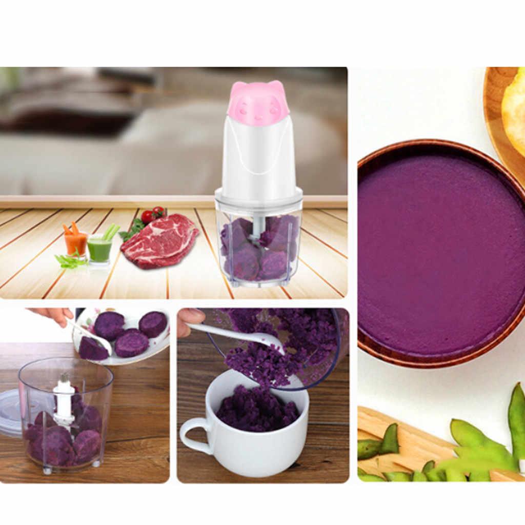 Elektryczne urządzenie do siekania żywności, 0.6L szklana miska młynek do mięsa, warzywa owoce nakrętki maszynka do mielenia mięsa maszynka do regulowane ostrze zgodnie z akcesoria